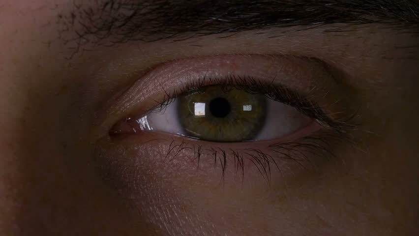 62fa8e1e7b0 Closeup Macro of Man Eye Stock Footage Video (100% Royalty-free ...