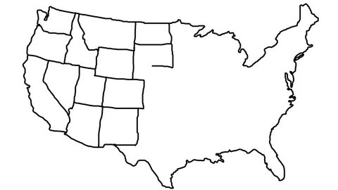 United States Map White Stock Video Footage 4k And Hd Video Clips - Continental-us-map