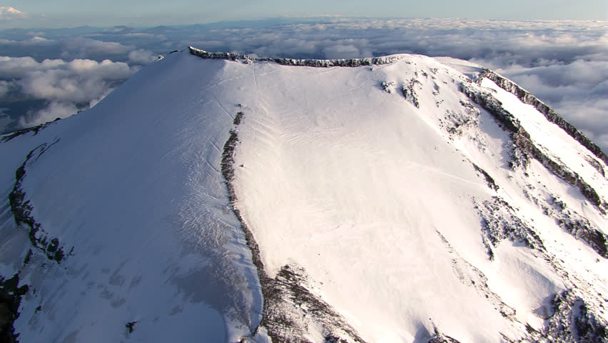 Flight over the South Sister in Oregon Cascades | Shutterstock HD Video #26834683
