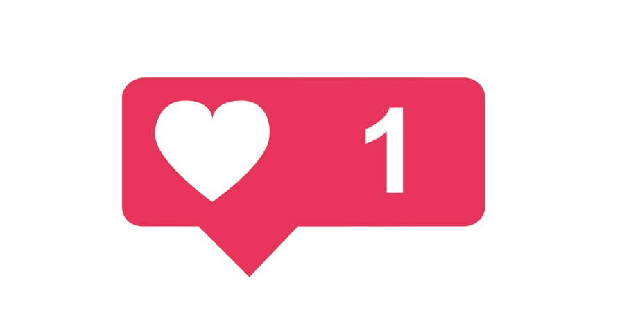 Modern like pink icon on white background with animating numbers counting. Perfect to show any social media like Facebook.. Make the like animation bigger of smaller to drag it on a white background.  | Shutterstock HD Video #26837719