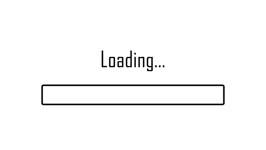 Loading bar, modern concept sign, progress screen, download idea animation design load alpha channel 4k