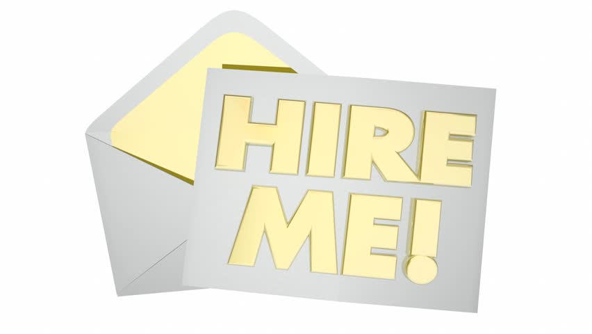 Hire Me Envelope Get Job Interview Candidate 3d Animation