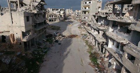 HOMS CITY Aerial 4K syria