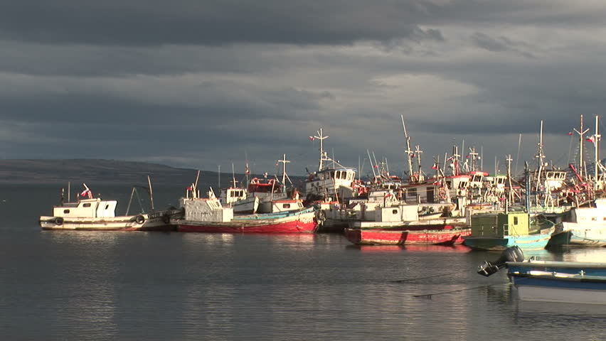 Seaport in Puerto Natales, Chile