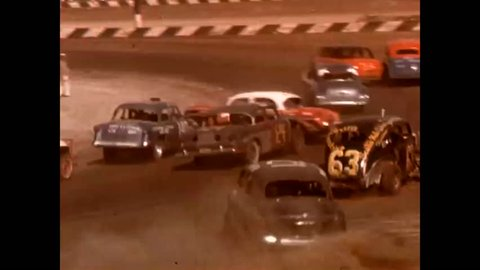 1960s: Shots of a demolition derby in 1966.