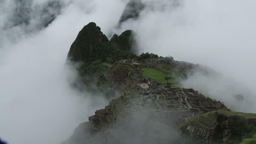 Clouds rolling over Machu Picchu