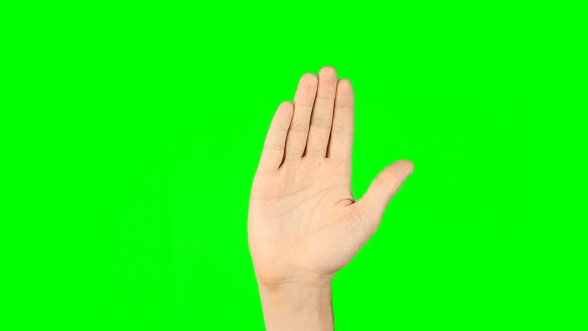 3 4 5 fingers gestures. Male hand on green screen. Three four five fingers gestures on virtual screen. Modern technology simulator. Have more options. Footage contains solid green instead alpha. | Shutterstock HD Video #26908246