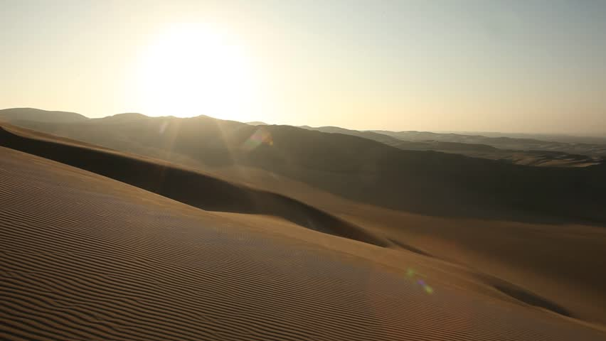 video footage of sand dunes in the desert of ica, peru #2690876