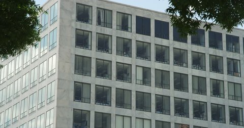 Close-up windows of the Federal Building, Washington DC. Shot in May 2012.