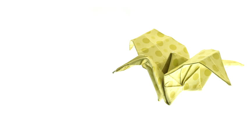Beautiful Yellow Origami Crane Animated More On The Gallery