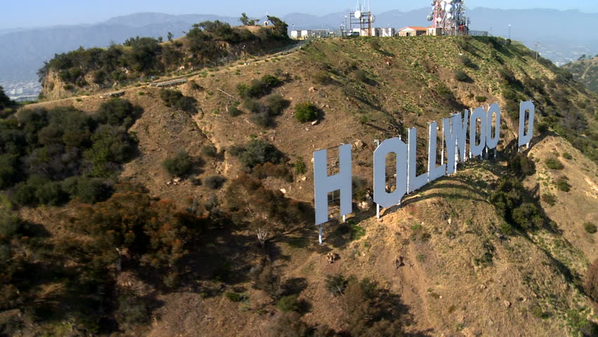 LOS ANGELES - CIRCA MAY 2012: Aerial of the Hollywood Sign - Los Angeles California - Circa May 2012