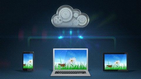 Cloud computing concept