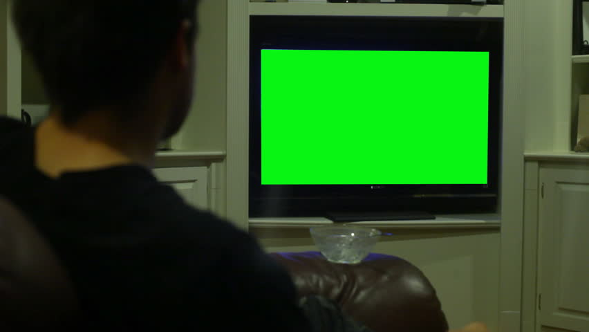 Watching TV, replaced screen with greenscreen
