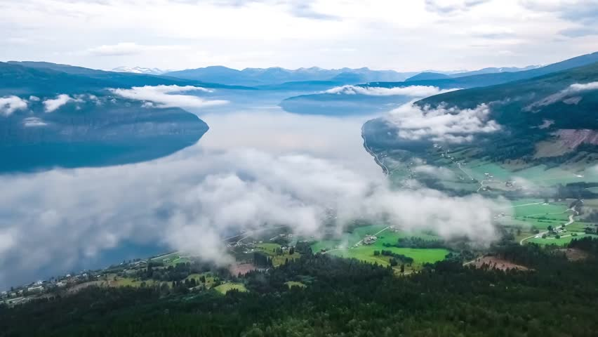 Aerial footage Beautiful Nature Norway. #27028816