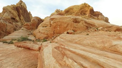Beautiful red rocks in the Valley of Fire in Nevada