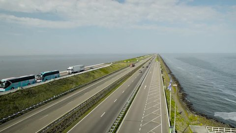 The Afsluitdijk (closing dam) is a dike that connects the north of North Holland with the province of Friesland, in the Netherlands, closing the ?sselmeer and separating it of the sea of Frisia.