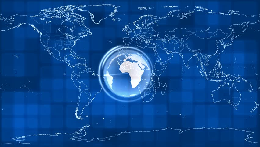 Animated earth blue map stock footage video 3660176 shutterstock abstract cgi motion graphics and animated background with revolving earth hd stock footage clip gumiabroncs Image collections