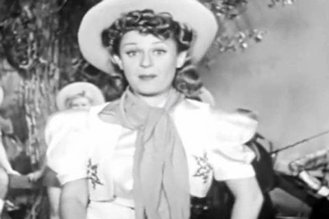 1940s: A cowgirl says she is a tough hombre in a sombrero with a fake horse dancing in this 1940s whimsical soundie musical.