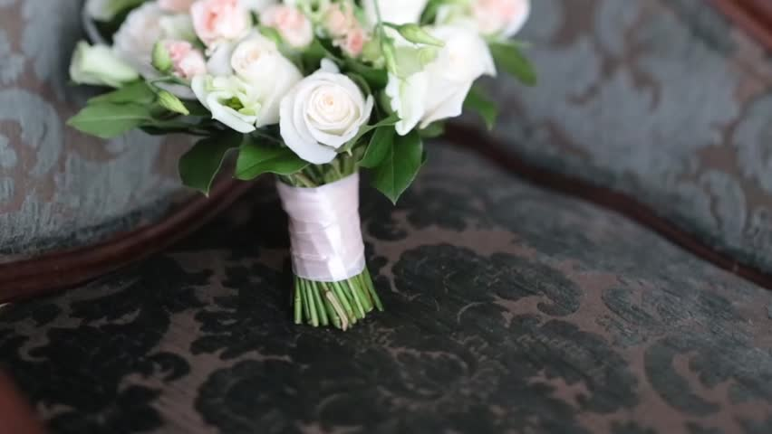 Wedding bouquet of roses and orchids | Shutterstock HD Video #27148315