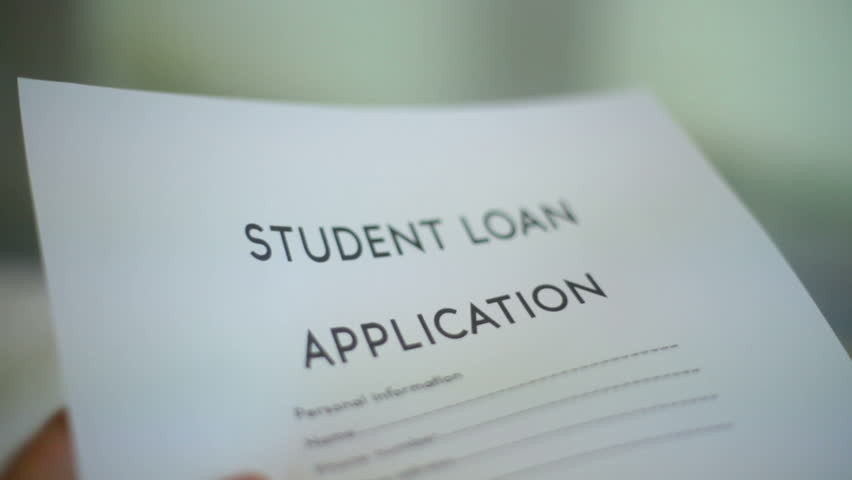 Student Loan Application   HD Stock Footage Clip