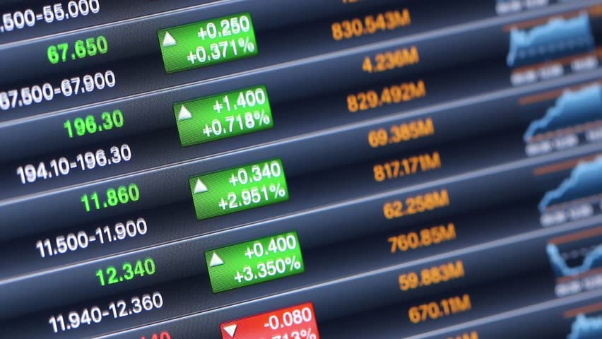Stock Market Data On Led Display | Shutterstock HD Video #27165646