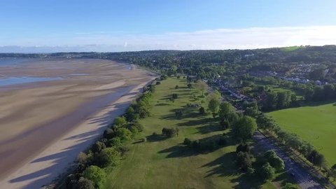 Editorial SWANSEA, UK - MAY 21, 2017: A stretch of land along the Mumbles Road in Swansea that used to be a pitch and putt golf course but is now used for the very popular FootGolf