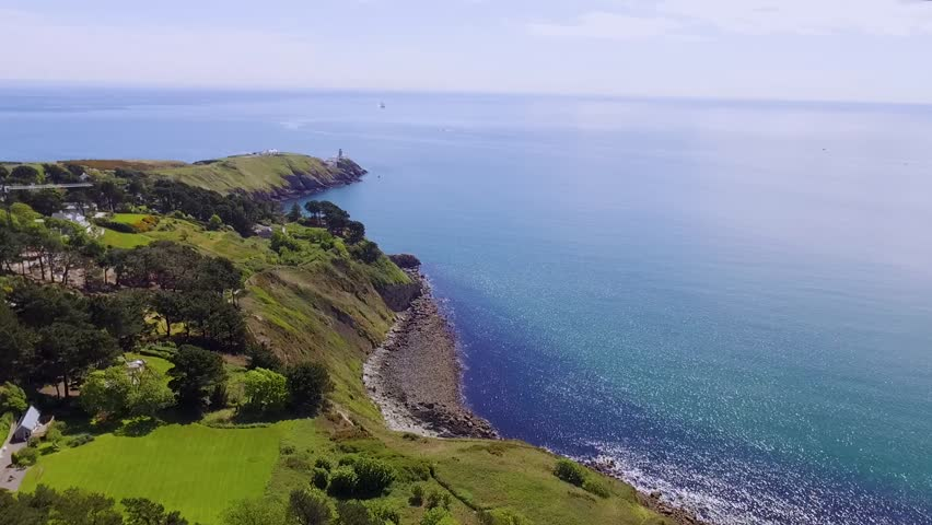 Aerial shot over the peninsula of Howth Dublin | Shutterstock HD Video #27200296
