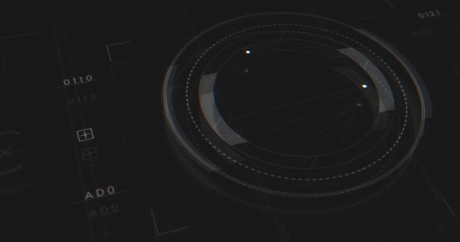 Abstract Digital Animation User Interface HUD   Shutterstock HD Video #27214996
