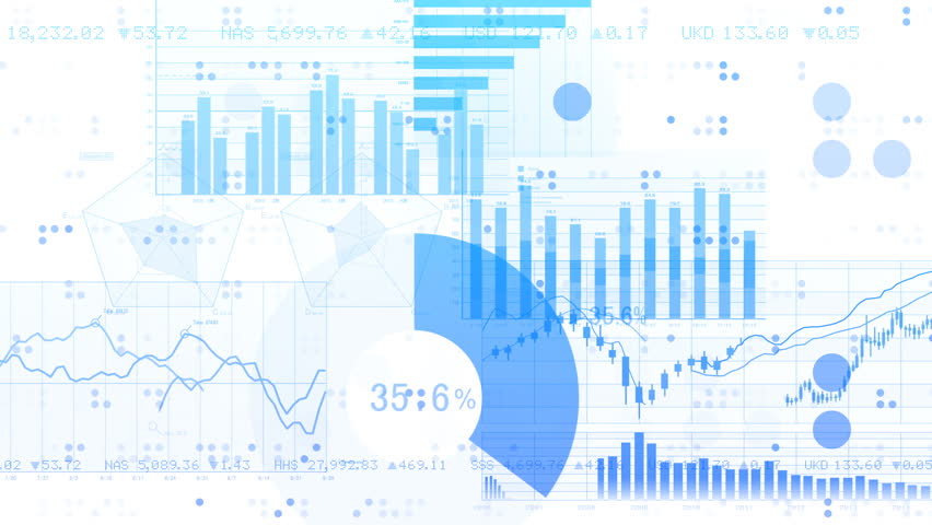 Business data graph digital world space. | Shutterstock HD Video #27301396