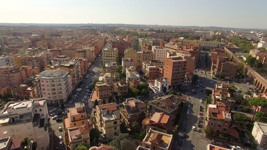 Aerial shot of the city of Rome, Italy. | Shutterstock HD Video #27318466
