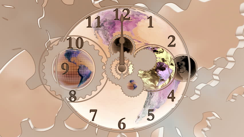 Stock video clip of time zone world time zone world time shutterstock hd0016world time earth and gears looping clock animated cg background gumiabroncs Image collections