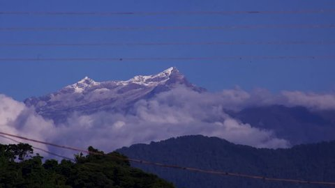 time lapse of Humboldt and bonpland peaks at Venezuelan andes