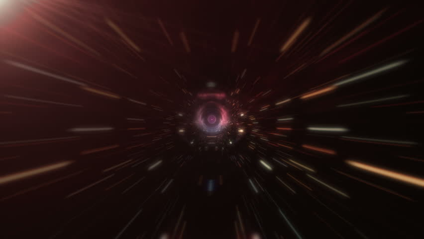 Plaid on an abstract space tunnel with a flight into space | Shutterstock HD Video #27385876