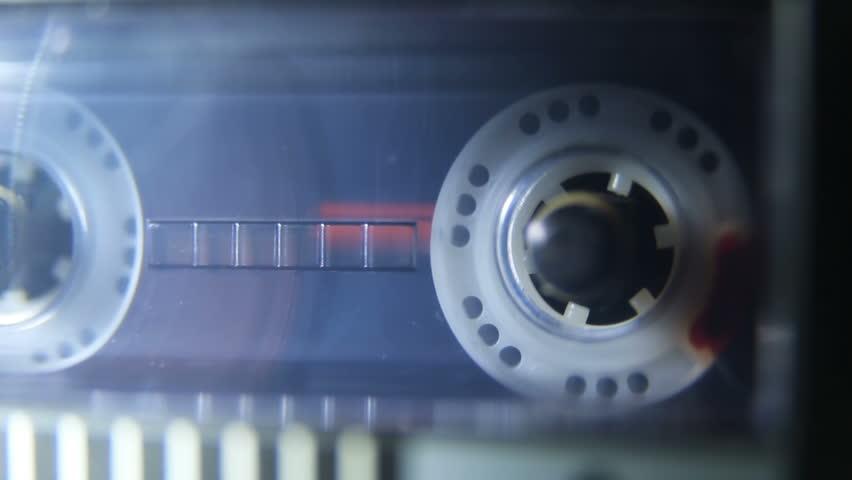Audio Cassette in Tape Recorder Rewind | Shutterstock HD Video #27455656