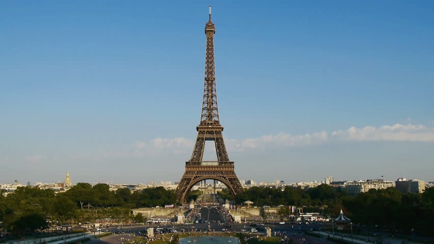 Classic view of eiffel tower in paris, france | Shutterstock HD Video #2747066