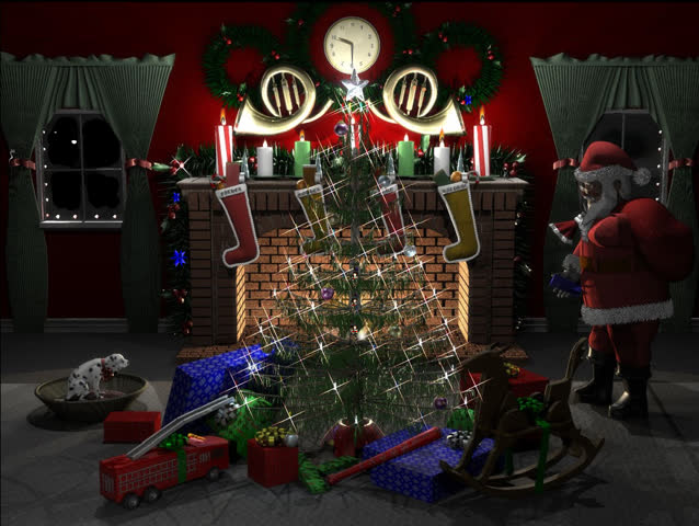 Christmas scene with Santa. can be looped.