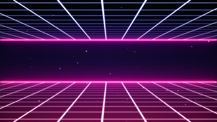 Retro 80's style intro.