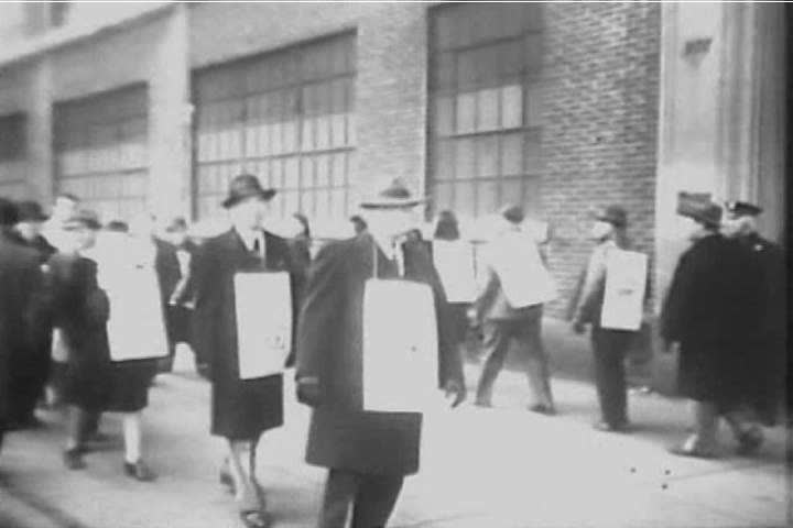 Workers are on strike from Western Electric and sympathy strikes occur, as well, as businessmen Joseph Washington Frazer and Henry John Kaiser sign a new pact between management and laborers, in 1946.