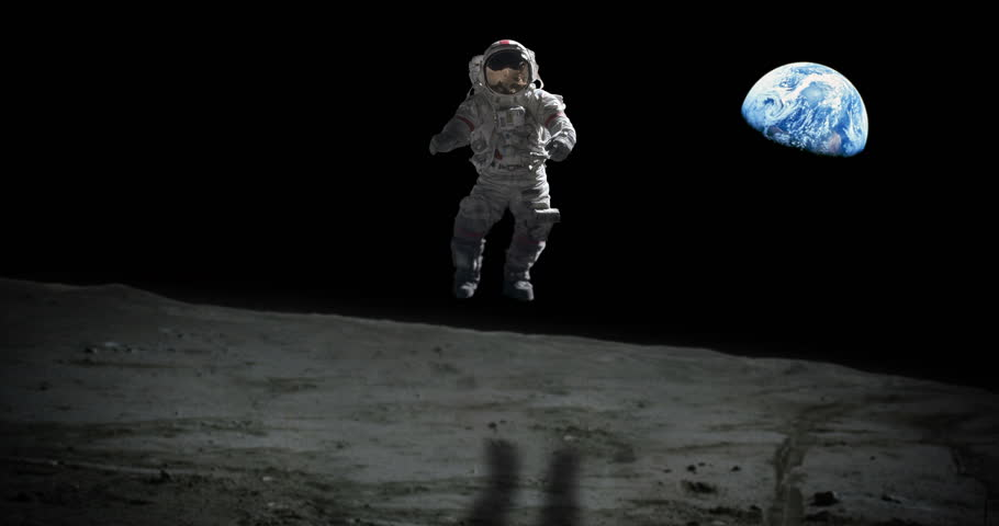 jumping astronaut in space - photo #13