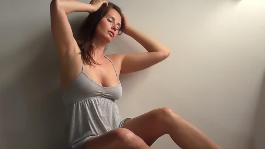 slow motion video of beautiful model 3