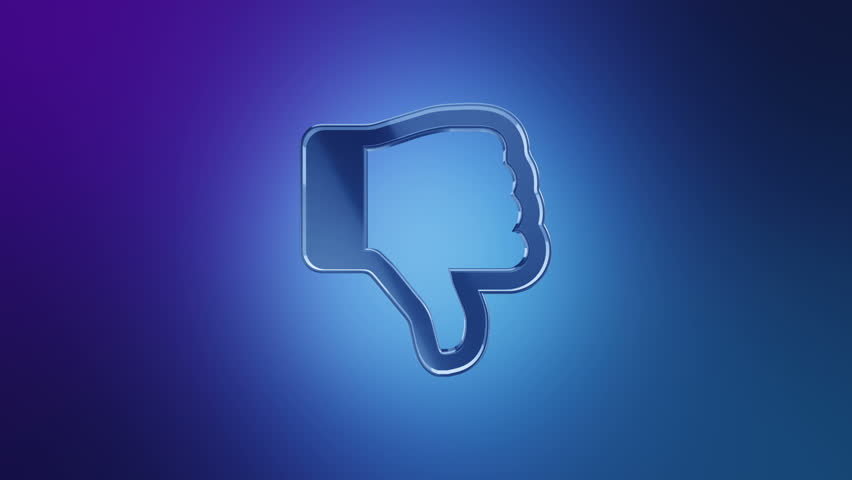 Thumbs down blueprint stop motion style animation stock footage animation rotation symbol of social network or technologic of global communication animation of seamless loop malvernweather Images