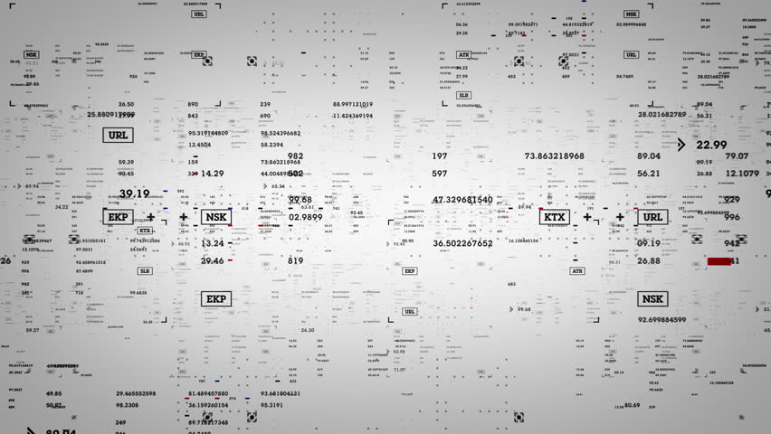 Micro Data White - Data and information passing through cyberspace. Looped | Shutterstock HD Video #27608626
