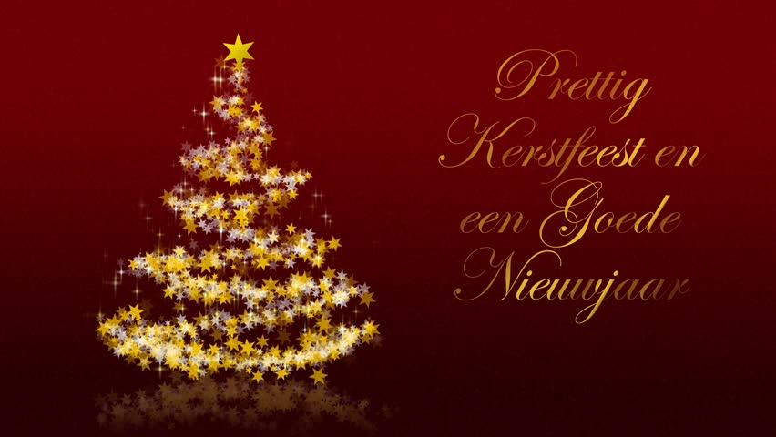 Merry Christmas In Dutch.Christmas Tree With Glittering Stars Stock Footage Video 100 Royalty Free 27653086 Shutterstock