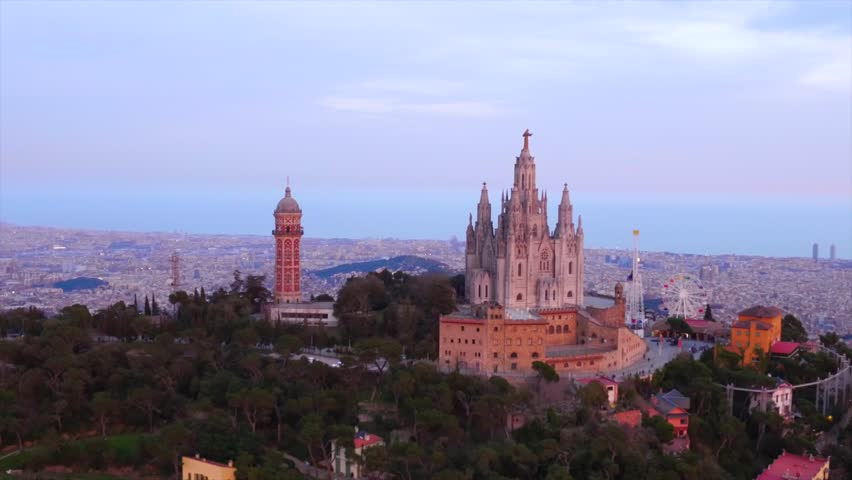 Barcelona Talaia Temple Of The Stock Footage Video 100 Royalty Free 27668866 Shutterstock
