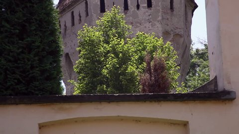 SIGHISOARA, TRANSYLVANIA, ROMANIA - June, 2014 18th century medieval fortress bastion tower