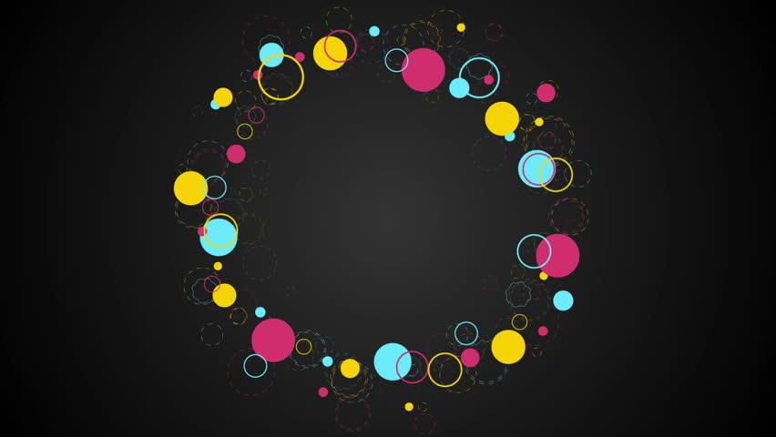 beautiful neon circles 4k - photo #25