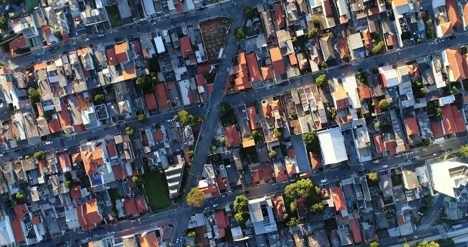 Top View of Suburban Neighborhood in Sao Paulo, Brazil | Shutterstock HD Video #27689296