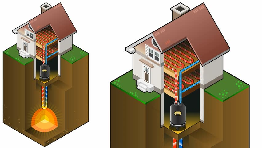 Contemporary Home Geothermal Energy Diagram Heat Pump Movie Isometric Clip With Design Ideas