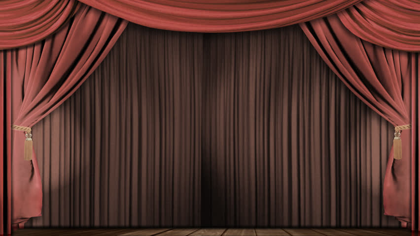 High Definition Clip Of An Opening Stage Curtain. Animated Mask For Easy  Composition Added
