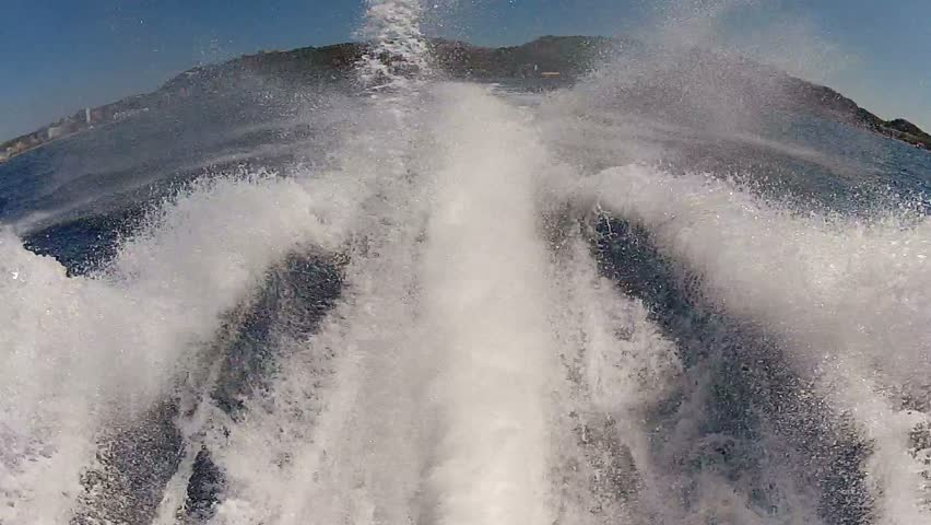 Jet ski back view pov